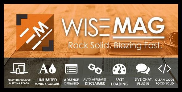 Wise Mag – The Wisest AD Optimized Magazine Blog WordPress Theme - News / Editorial Blog / Magazine
