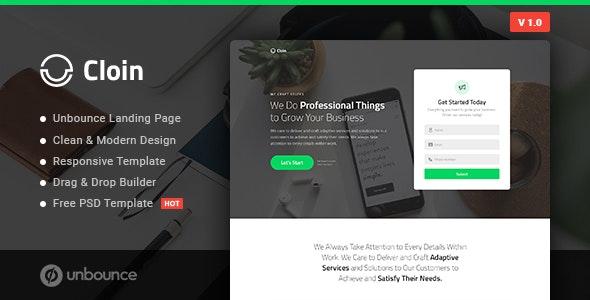 Cloin - Business Unbounce Landing Page Template - Unbounce Landing Pages Marketing