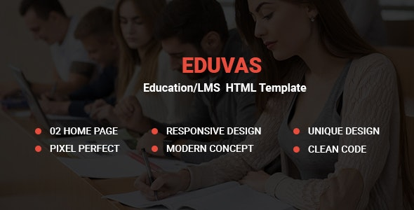 EduVas- Education HTML5 Template - Corporate Site Templates