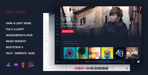 Rekord - Ajaxify Multipourpose Music Podcast & Events Multipurpose HTML Template - Music and Bands Entertainment