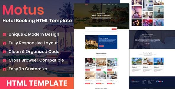 Motus - Hotel Booking HTML Template - Travel Retail