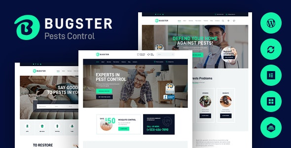 Bugster | Bugs & Pest Control WordPress Theme for Home Services - Business Corporate