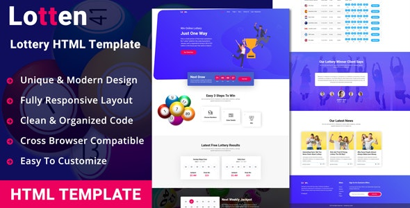 Lotten - Lottery HTML Template - Miscellaneous Site Templates
