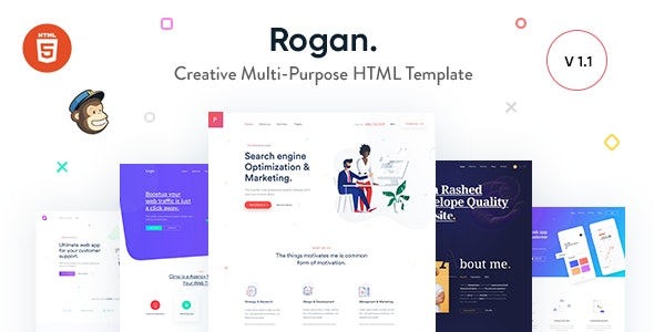 Rogan - Creative Multi-Purpose HTML Template by CreativeGigs
