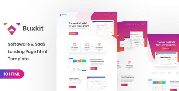 Buxkit - Software Landing Page - Technology Site Templates