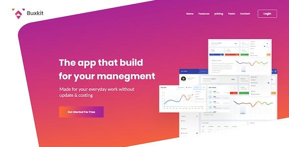 Buxkit - Software Landing Page