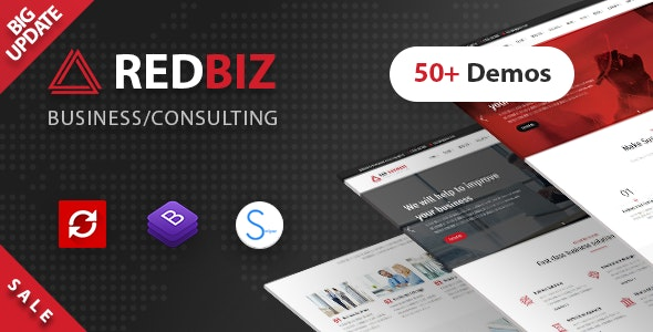 RedBiz - Business & Consulting Multi-Purpose Template - Business Corporate