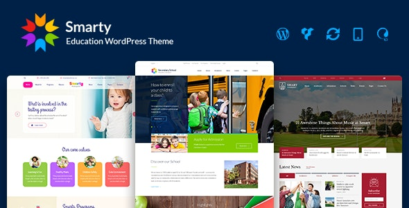 Smarty - School Kindergarten WordPress theme by