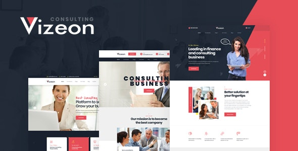 Vizeon - Business Consulting PSD Template - Business Corporate