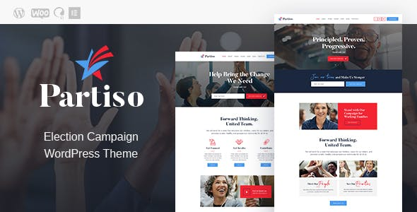 Partiso | Political WordPress Theme for Party & Candidate