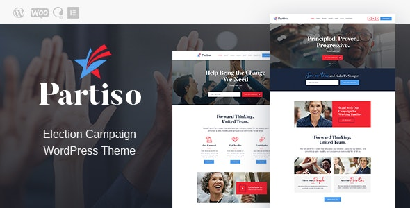 Partiso | Political WordPress Theme for Party & Candidate - Political Nonprofit