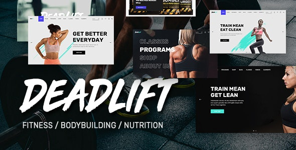 Deadlift - Fitnesss and Bodybuilding WordPress Theme - Health & Beauty Retail