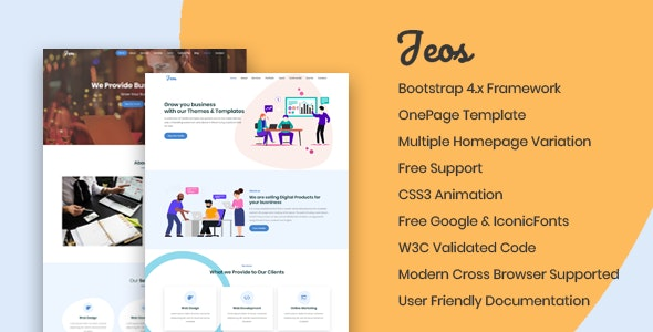 Jeos - SEO Friendly Bootstrap Template - Business Corporate