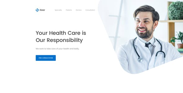 Kear - Medical & Healthcare Landing Page Template
