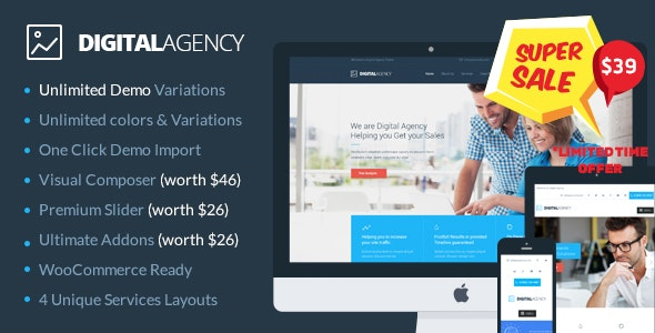 Digital Agency - SEO / Marketing WordPress Theme - Marketing Corporate
