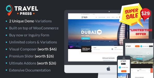 Travel Agency WordPress Theme - Travel Retail