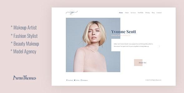YS - Makeup Artist, Model & Beauty Bootstrap Template - Health & Beauty Retail