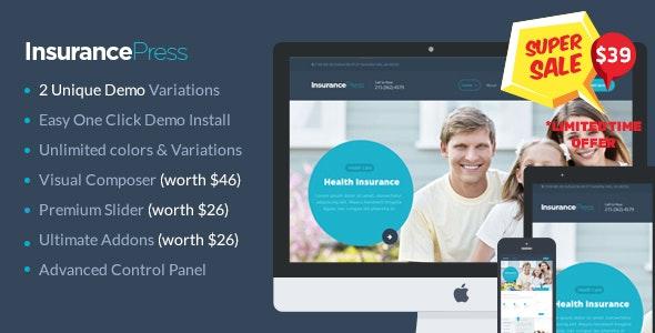 Insurance Agency WordPress Theme - Corporate WordPress
