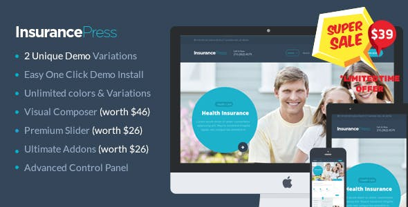 One Press WordPress Themes from ThemeForest