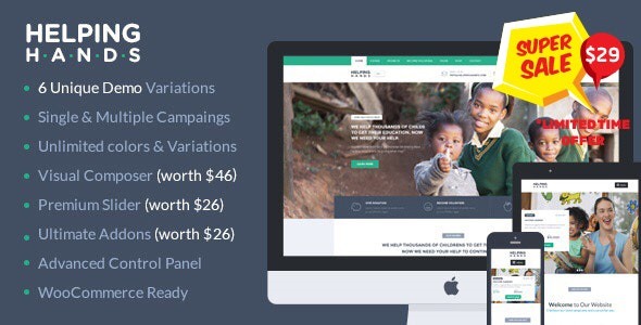 Charity WordPress Theme | HelpingHands - Charity Nonprofit
