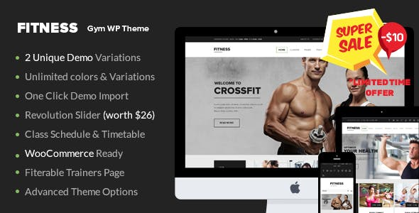 Gym WordPress Theme | Fitness