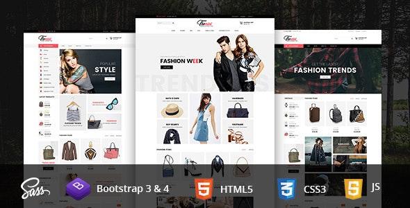 Themini E-Commerce Bootstrap4 Responsive Template - Retail Site Templates