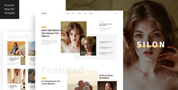 Silon - Personal Blog PSD Template - Personal Photoshop