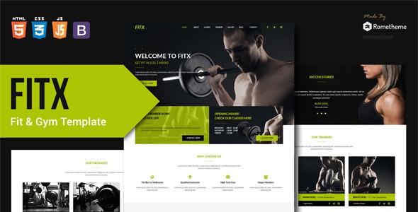 FitX - Fitness & Gym HTML Template - Retail Site Templates