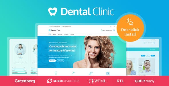Y tế & Dentist WordPress Theme - Dental Clinic
