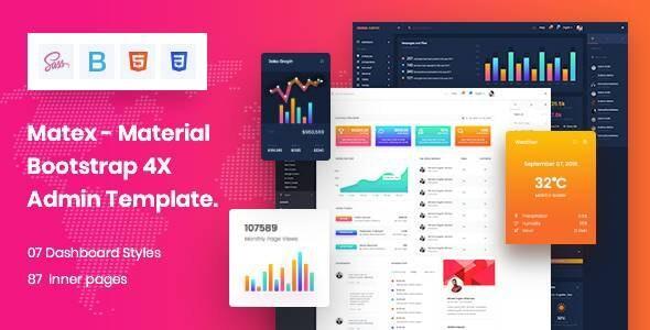 Matex admin - Material Design Admin Dashboard HTML5 Template