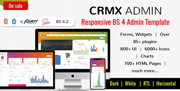The Seo Crm HTML Admin Website Templates from ThemeForest