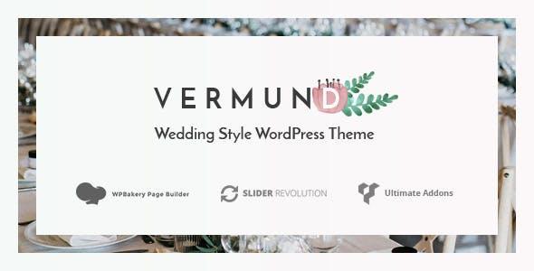 Vermund - Elegant Wedding WordPress Theme nulled theme download