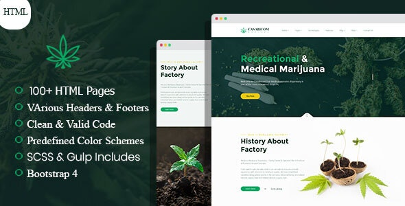 Canabicom - Medical Cannabis HTML Template - Business Corporate