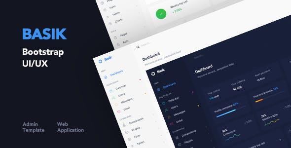 Basik - Web Application and Admin Template