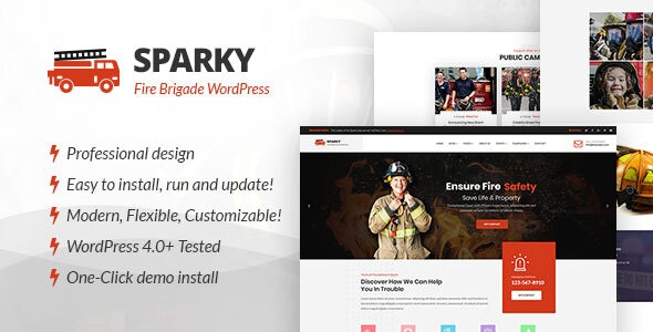 Sparky - Fire Brigade WordPress Theme - Nonprofit WordPress