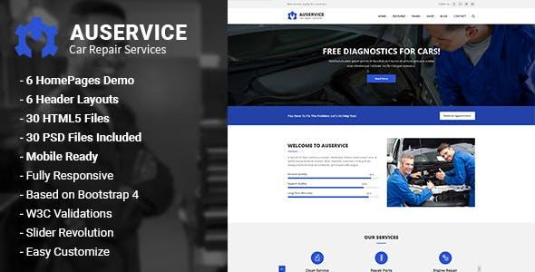 Auservice - Auto Repair HTML5 Template