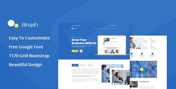 Binash - Business and Finance PSD Template - Business Corporate