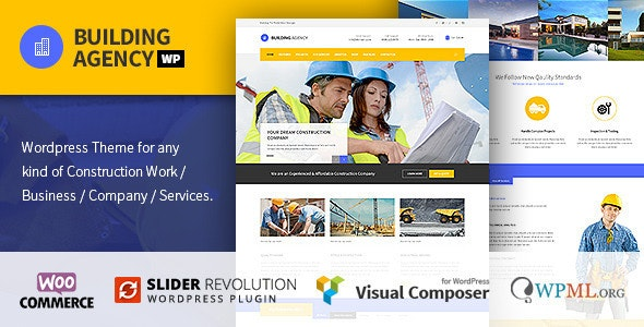 Building Agency - Construction WordPress Theme - Business Corporate