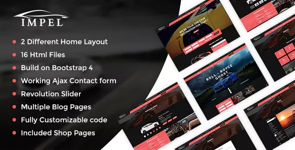 Impel - Auto Car Responsive  HTML 5 Template - Business Corporate