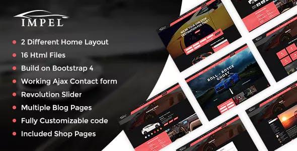 Impel - Auto Car Responsive  HTML 5 Template
