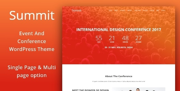 Summit -  Event And Conference WordPress Theme - Events Entertainment