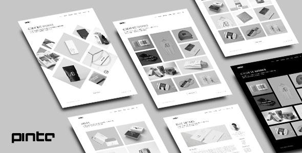 Pinto - Minimal Portfolio PSD Template - Portfolio Creative