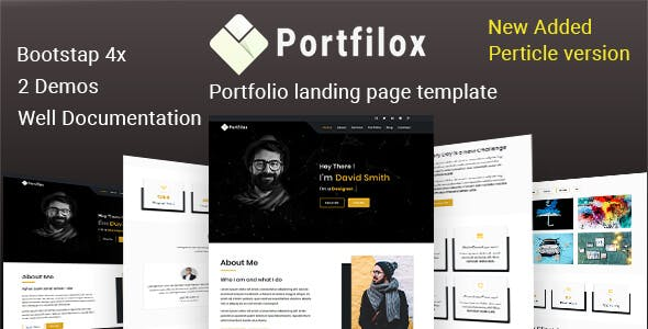 PortFilox - Responsive Portfolio Template
