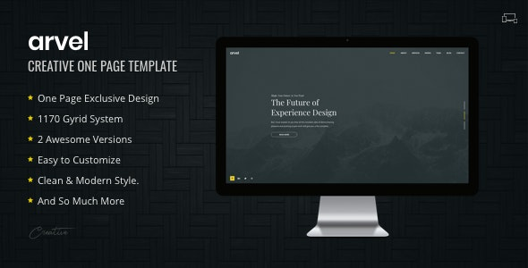 ARVEL | Creative One Page Template - Creative Site Templates