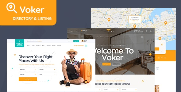 Voker - Booking and Rentals PSD Template - Corporate Photoshop