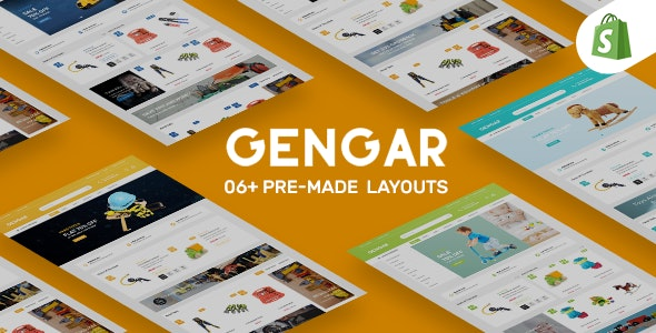 Gengar Tools & Toys Store Shopify Theme