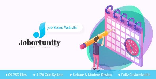 Jobortunity - Job Board PSD Template - PSD Templates