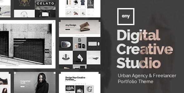 Any - Urban Agency & Freelancer Portfolio Theme - Portfolio Creative