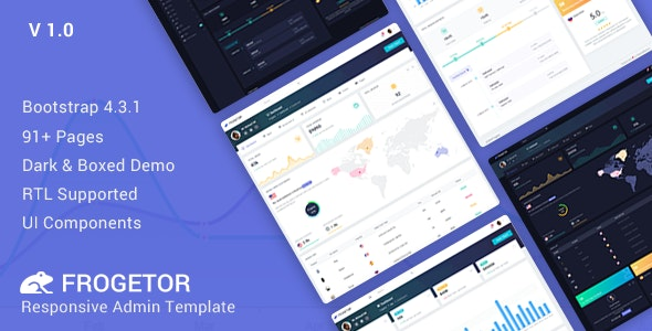 Frogetor - Responsive Admin Dashboard Template - Admin Templates Site Templates
