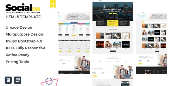 Social Net - Corporate Networking Connection HTML5 Template
